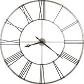 Howard Miller Stockton 49 Gallery Wall Clock in Brushed Aged Nickel