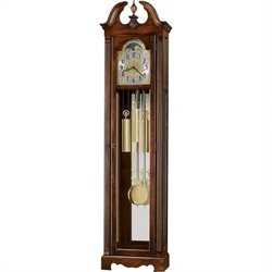 Howard Miller Warren Grandfather Clock in Cherry Bordeaux Finish