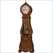 Howard Miller Cleo Grandfather Clock in Chestnut Finish with Lock