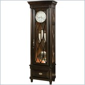 Howard Miller Crawford Grandfather Clock in Worn Black Finish