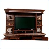 Howard Miller Ithaca Back Bar Hutch in Hampton Cherry and Olive Ash
