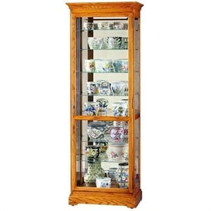 Howard Miller Chesterfield II Eight Shelf Display Curio Cabinet