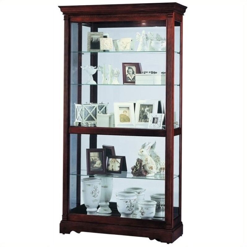Dublin traditional display curio cabinet 680337 - Elegant contemporary curio cabinets furniture ...
