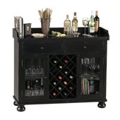 Howard Miller Cabernet Hills Wine and Spirit Home Bar in Distressed Black