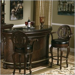 Howard Miller Niagara Home Bar Set in Rustic Cherry