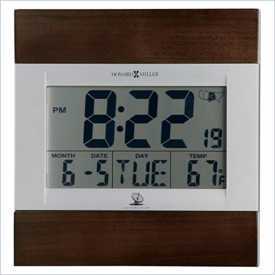 Howard Miller Techtime III Accuwave DS Wall Clock