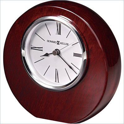 Howard Miller Adonis Table Desk Clock in Rosewood Hall Finish