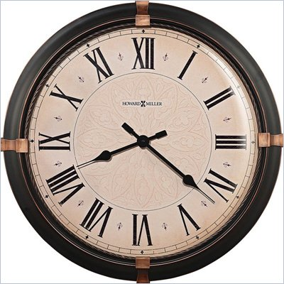 Howard Miller Atwater 24&quot; Wall Clock in a Dark Rubbed Bronze