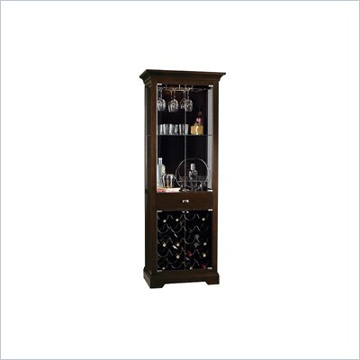 Howard Miller Metropolis Wine and Spirits Home Bar Cabinet in Black Coffee