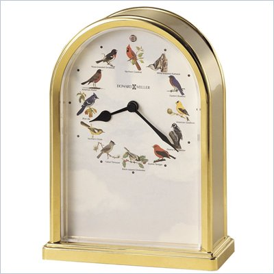Howard Miller Songbrids of North America III Musical Table Top Clock