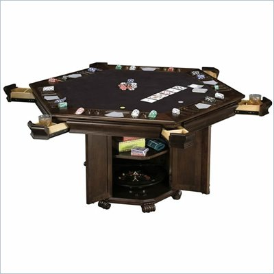 Howard Miller Niagara Hexagon Game Table in Black
