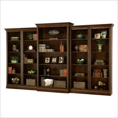 Howard Miller Ty Pennington Oxford Wall Bookcase in Saratoga Cherry