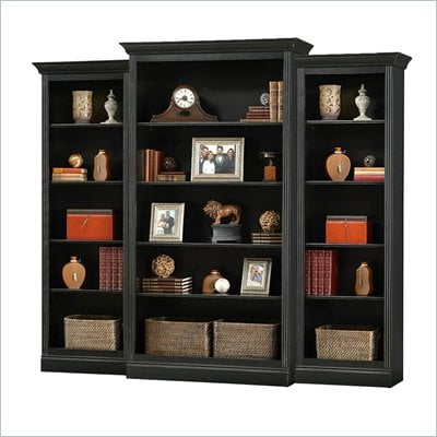 Howard Miller Ty Pennington Oxford Wall Bookcase in Antique Black