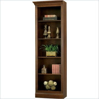 Howard Miller Ty Pennington Oxford Bookcase Left Return in Saratoga Cherry