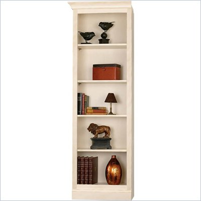 Howard Miller Ty Pennington Oxford Bookcase Left Return in Antique Vanilla