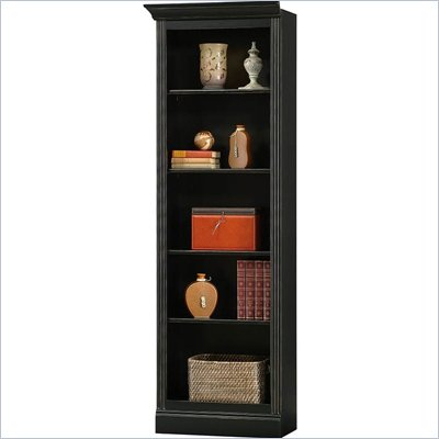 Howard Miller Ty Pennington Oxford Bookcase Left Return in Antique Black