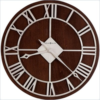 Howard Miller Prichard 15&quot; Wall Clock  in Satin Nickel Finish