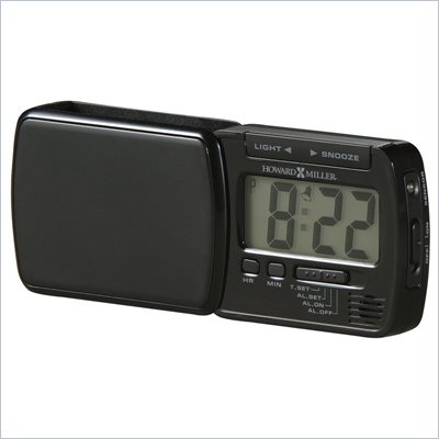 Howard Miller Blackstone Travel Alarm Table Top Clock