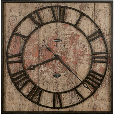 Howard Miller Ty Pennington Talmage Wall Clock in a Distressed Finish  