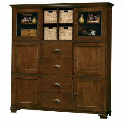 Howard Miller Ty Pennington Holly Storage Cabinet in Saratoga Cherry and Brass