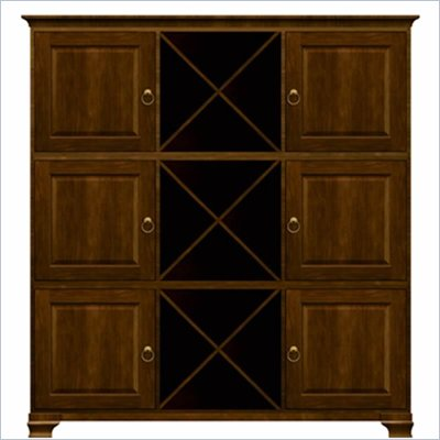 Howard Miller Ty Pennington Holly Storage Cabinet with Shelf in Saratoga Cherry