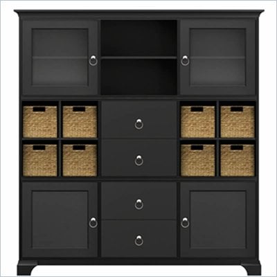 Howard Miller Ty Pennington Holly Storage Cabinet in Antique Black and Nickle