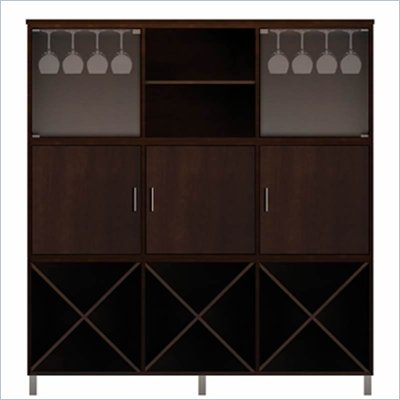 Howard Miller Ty Pennington Holly Storage Cabinet with Rack in Espresso