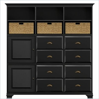 Howard Miller Ty Pennington Holly Storage Cabinet in Antique Black and Brass