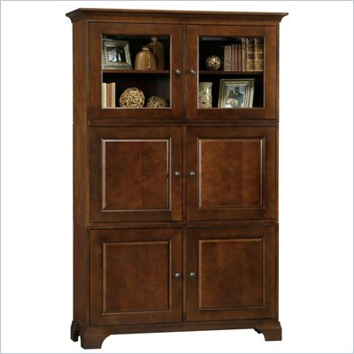 Howard Miller Ty pennington Ava Storage Cabinet with Glass in Newport Cherry