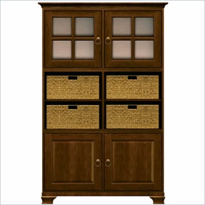 Howard Miller Ty pennington Ava Storage Cabinet with Baskets in Saratoga Cherry 