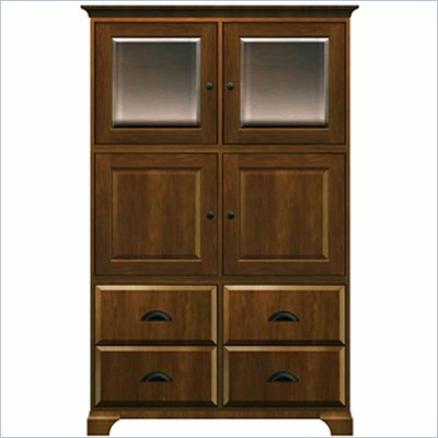 Howard Miller Ty pennington Ava Storage Cabinet with Glass in Saratoga Cherry