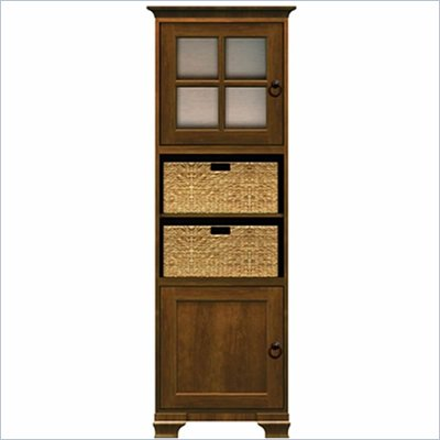Howard Miller Ty Pennington Lily Storage Cabinet with Baskets in Saratoga Cherry