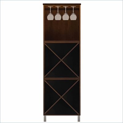 Howard Miller Ty Pennington Lily Storage Cabinet with Rack in Espresso