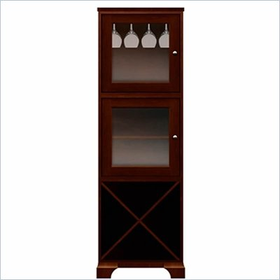 Howard Miller Ty Pennington Lily Storage Cabinet with Rack in Newport Cherry