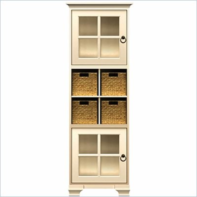 Howard Miller Ty Pennington Lily Storage Cabinet with Baskets in Antique Vanilla