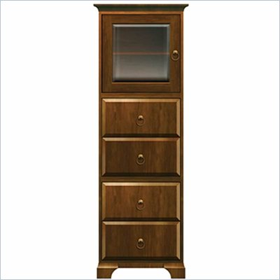 Howard Miller Ty Pennington Lily Storage Cabinet with Glass in Saratoga Cherry