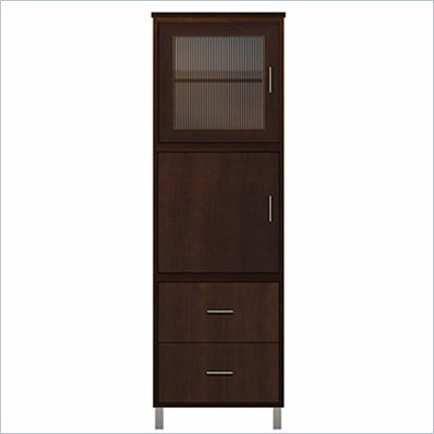 Howard Miller Ty Pennington Lily Storage Cabinet with Glass in Espresso Finish