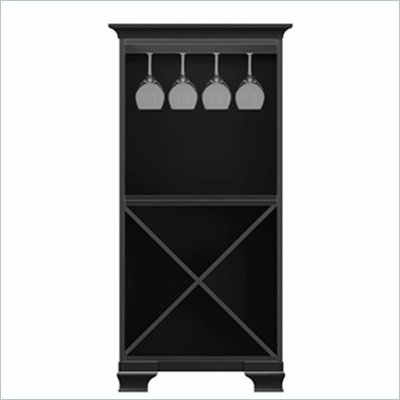 Howard Miller Ty Pennington Ella Storage Cabinet with Rack in Antique Black