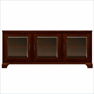 Howard Miller Ty Pennington Lucy TV Console with 3 Doors in Newport Cherry