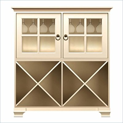 Howard Miller Ty Pennington James Storage Cabinet with Rack in Antique Vanilla