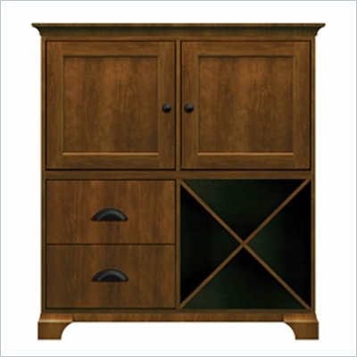 Howard Miller Ty Pennington James Storage Cabinet with Shelf in Saratoga Cherry