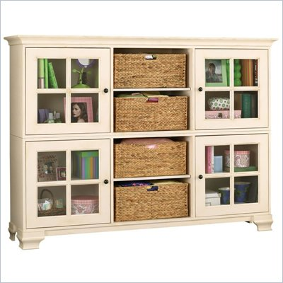 Howard Miller Ty Pennington Molly Storage Cabinet in Antique Vanilla and Bronze