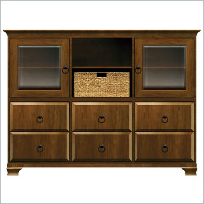 Howard Miller Ty Pennington Molly Storage Cabinet in Saratoga Cherry and Bronze