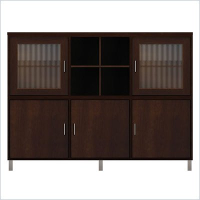 Howard Miller Ty Pennington Molly Storage Cabinet with Glass in Espresso