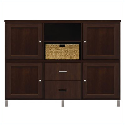 Howard Miller Ty Pennington Molly Storage Cabinet with Baskets in Espresso