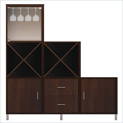 Howard Miller Ty Pennington Zoe-8E Personal Storage Cabinet in Espresso