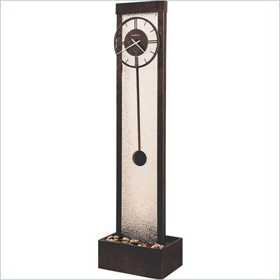 Howard Miller Cascade Waterfall Clock in Charcoal Gray Finish