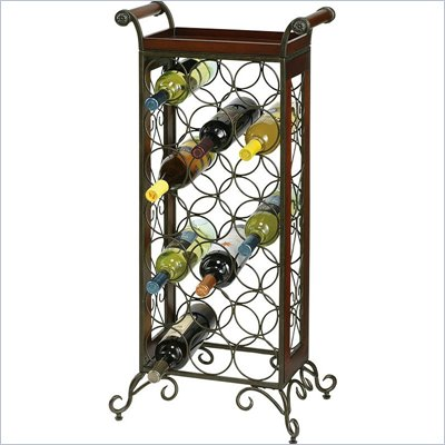 Howard Miller Wine Storage Butler in Warm Gray and Americana Cherry
