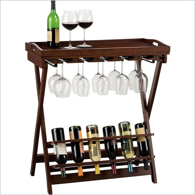 Howard Miller Havana Wine Butler in Cherry with Removable Tray