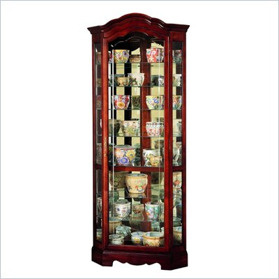 Howard Miller Jamestown Corner Display Curio Cabinet